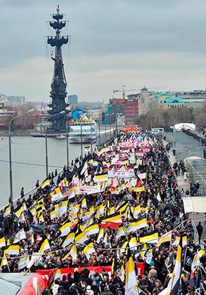 2012 год. Самый массовый «Русский марш» на Крымской набережной