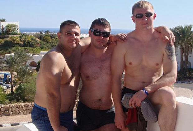 Участники банды Сергея Цапка (слева направо): Вячеслав Цеповяз, Вячеслав Рябцев и Андрей Быков