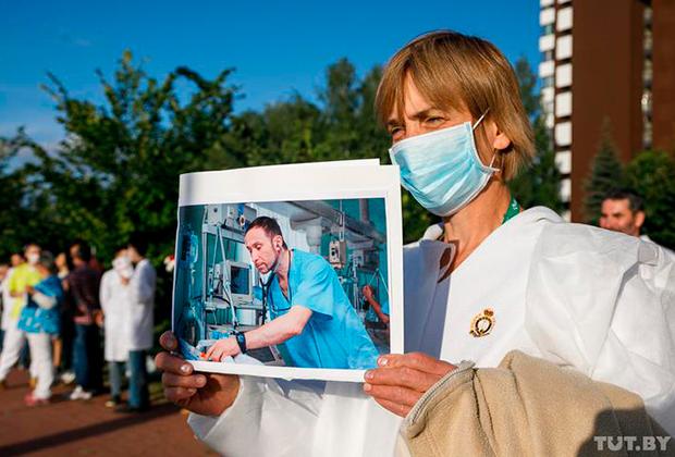 Акция в поддержку Андрея Витушко и других его коллег