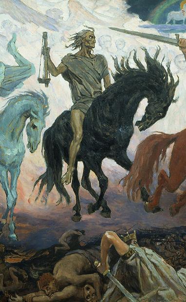 Фрагмент картины «Воины апокалипсиса», 1887 год