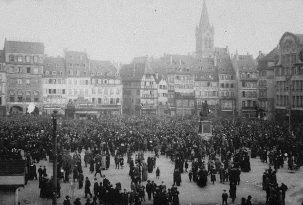 Демонстрация в Страсбурге, 1918 год