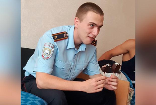 Антон Макаров во время учебы в институте МВД