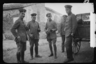 Немецкие офицеры возле гужевой повозки. Западный фронт, 1916 год.