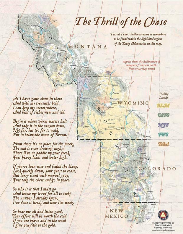 Карта и стихотворение с шифром
