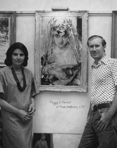 Форрест Фенн с женой в своей галерее