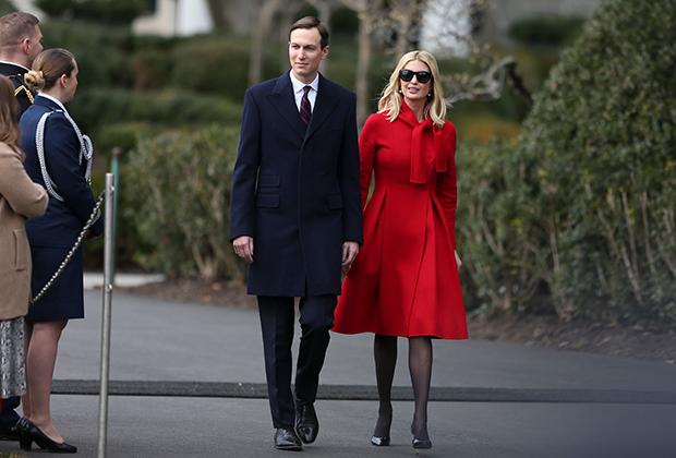 Дочь Трампа Иванка с мужем, старшим советником президента Джаредом Кушнером
