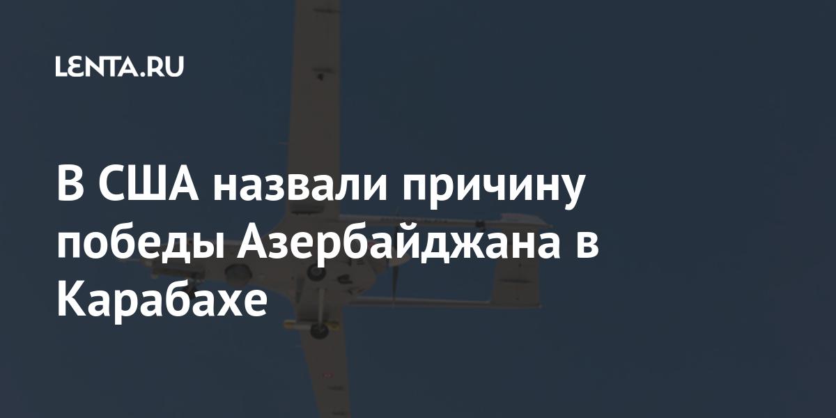 В США назвали причину победы Азербайджана в Карабахе: Оружие: Наука и  техника: Lenta.ru