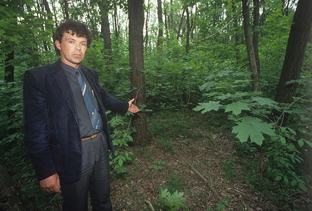 Место обнаружения одной из жертв Андрея Чикатило рядом с Ростовом-на-Дону