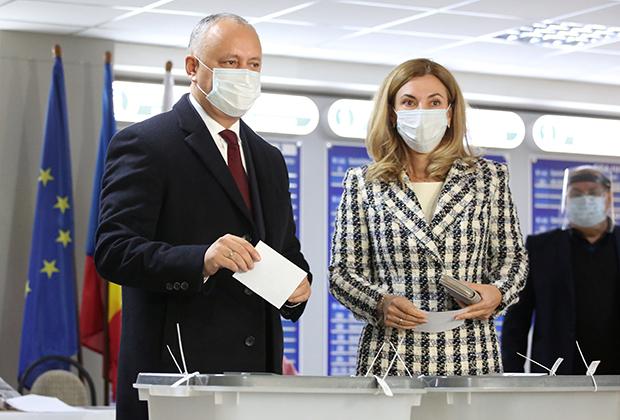 Игорь Додон и его жена Галина