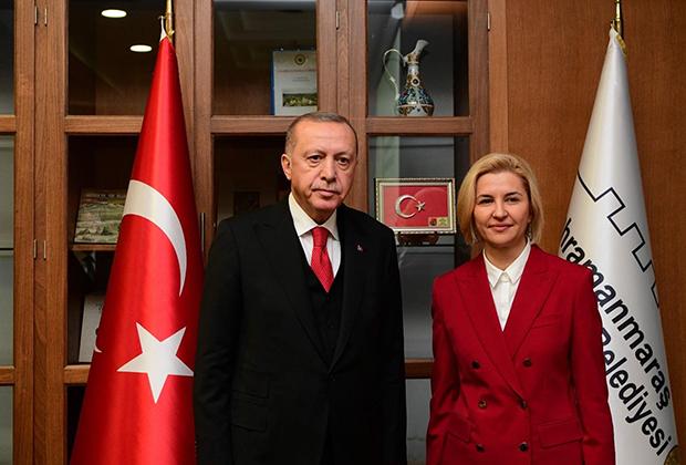 Башкан АТО Гагаузия Ирина Влах и президент Турции Реджеп Тайип Эрдоган