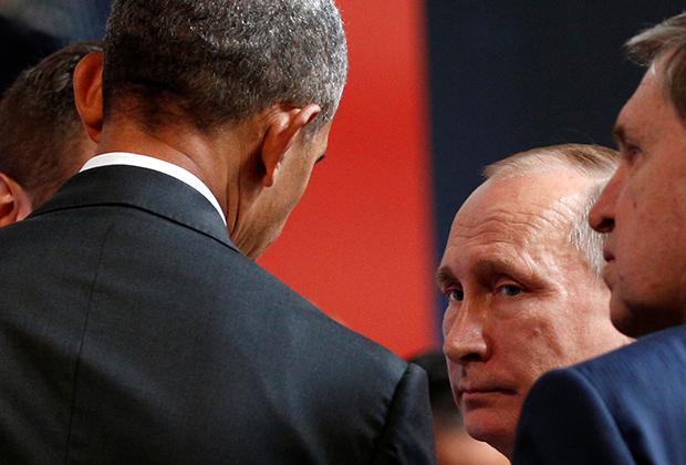 Обама общается с Путиным на саммите АТЭС в 2016 году