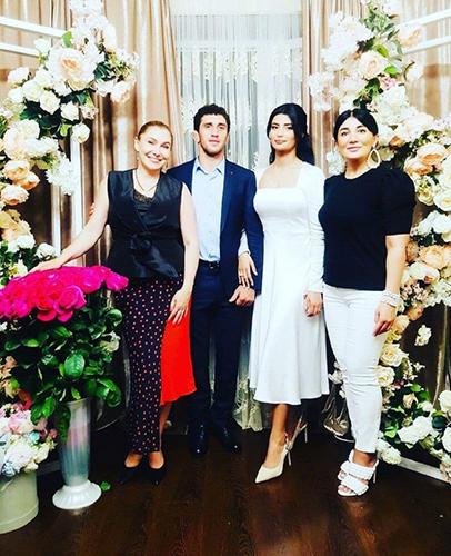 Заурбек Сидаков и его невеста Мадина Плиева