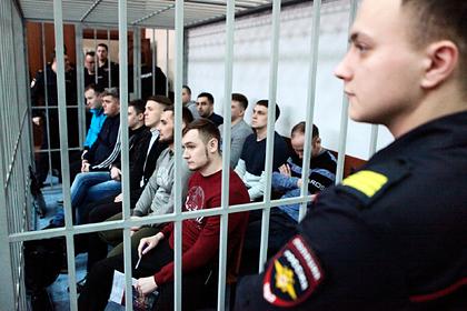 Фигуранты уголовного дела об избиении в суде, февраль 2020