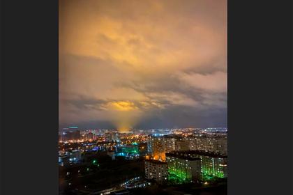 Загадочное свечение в небе над Кубанью вызвало споры в сети