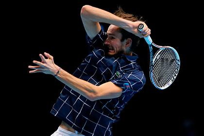 Названа сумма призовых Медведева за победу на Итоговом турнире ATP