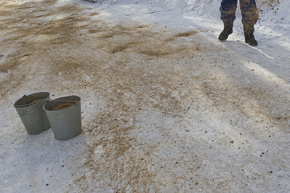 Российские коммунальщики захотели посыпать дорогу и оставили детей без песочницы