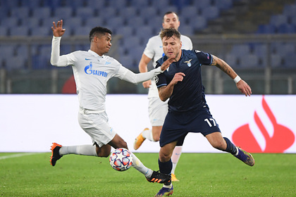 «Зенит» проиграл «Лацио» и лишился шансов на выход в плей-офф Лиги чемпионов