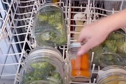 Блогерша приготовила ужин в посудомоечной машине и разгневала зрителей
