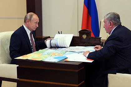 Сечин доложил Путину о ходе реализации проектов «Роснефти»