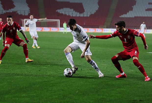 Матч 6-го тура Лиги наций УЕФА между сборными Сербии и России