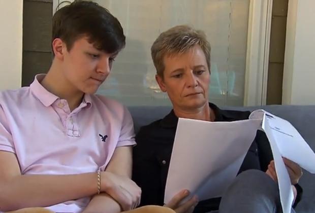 Венди Норман с сыном Алексом