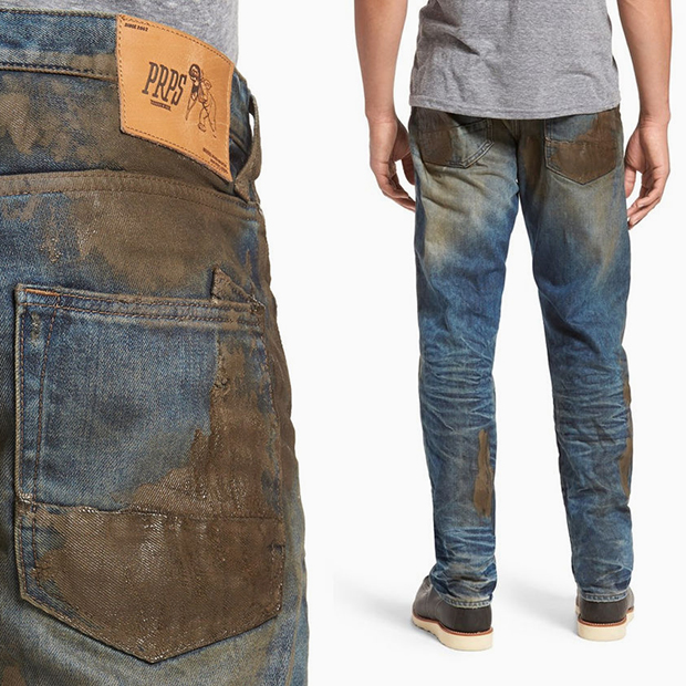 «Грязные» джинсы бренда PRPS
