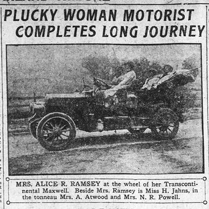 Вырезка из газеты с заметкой о путешествии Рэмси