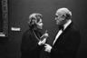 Ирина Антонова и пианист Святослав Рихтер на V музыкальном фестивале «Декабрьские вечера Святослава Рихтера» в Пушкинском музее, 1985 год.