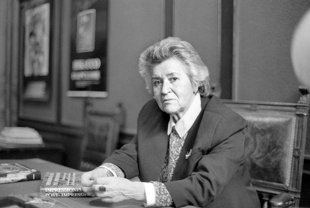 Директор ГМИИ имени Пушкина, вице-президент международного совета музеев Ирина Антонова, октябрь 1990 года.