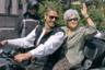Актер Джереми Айронс и Ирина Антонова у ворот Пушкинского музея, где открылась выставка «Новый Свет. Три столетия американского искусства», 2007 год.