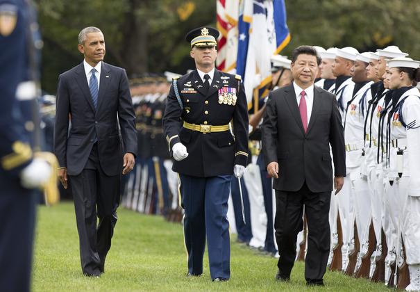 Барак Обама и Си Цзиньпин во время визита китайского лидера в США в 2015 году