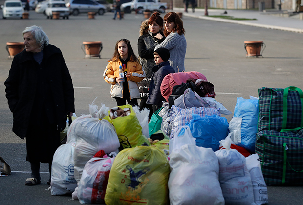 Армянские беженцы в Степанакерте