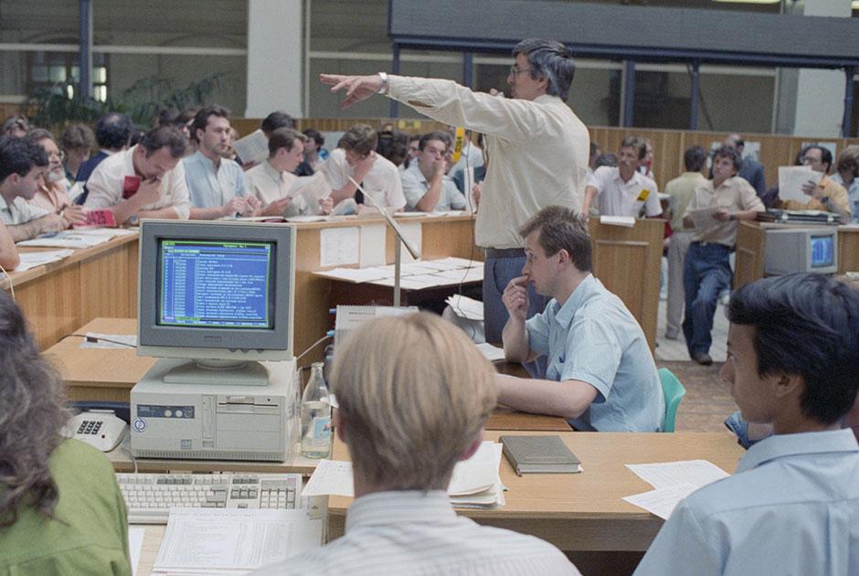 Во время торгов на бирже, 1 августа 1991 года