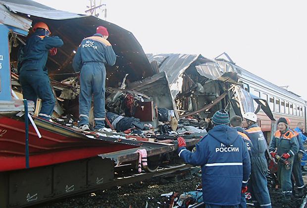 5 декабря 2003 года. Последствия теракта в электричке (Кисловодск)