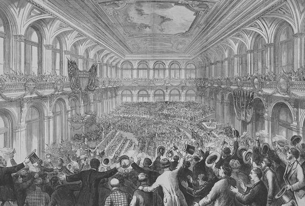 Момент выдвижения Тильдена как кандидата от Демократической партии, 1876 год