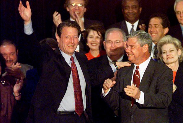 Ал Гор на предвыборном выступлении