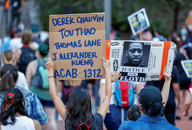 Протесты сторонников BLM в Миннеаполисе