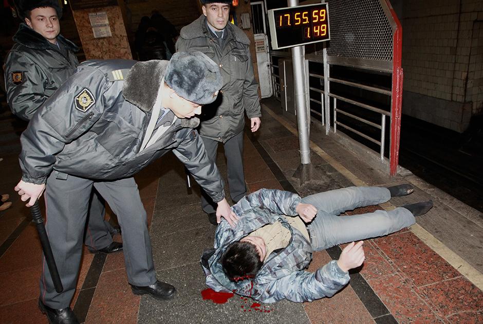 Жертва нападения в метро