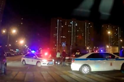 Погоня полиции за пьяным мужчиной на чужой машине в Москве попала на видео