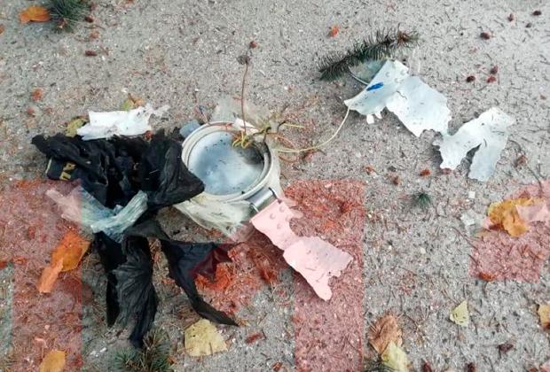 Фрагменты СВУ, которое использовал смертник