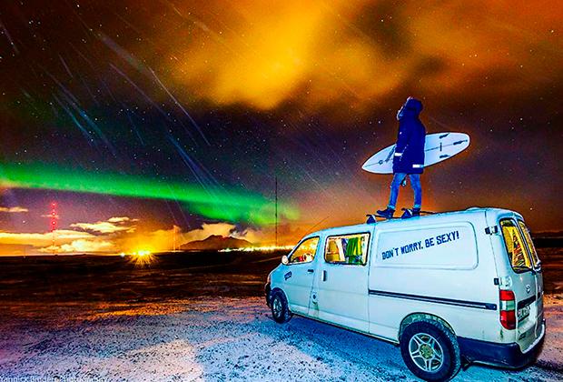 Северное сияние на севере Исландии — частое явление, но поймать его не так просто