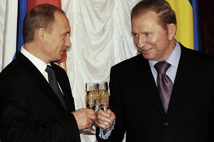 Владимир Путин и Леонид Кучма