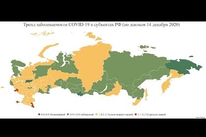 Эксперт перечислил находящиеся в «красной зоне» по COVID-19 регионы России