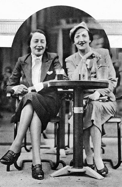 Гвен Фаррар и Дороти (Долли) Уайлд, племянница писателя Оскара Уайлда