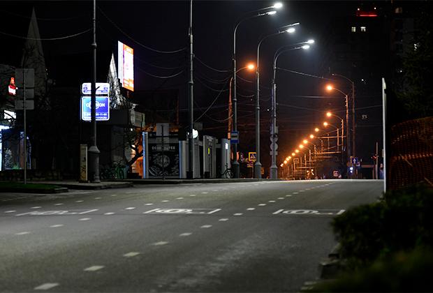 Пустые улицы в Краснодаре.