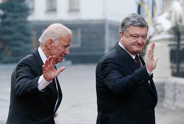 Джозеф Байден и Петр Порошенко, 2017 год