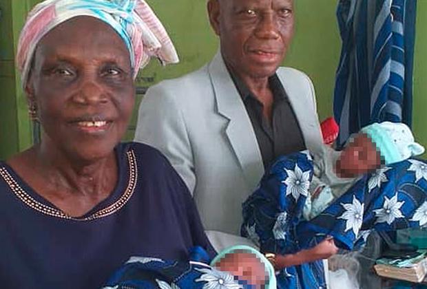 Маргаретт Аденуга и Ноа Аденуга стали родителями после 43 лет безуспешных попыток завести ребенка