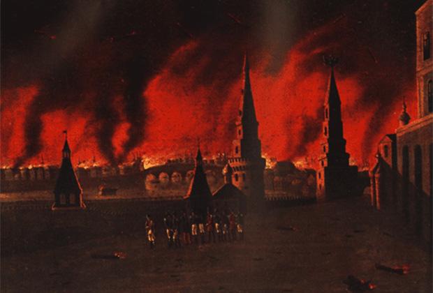 Франческо Вендрамини «Великий пожар Москвы 1812 года»