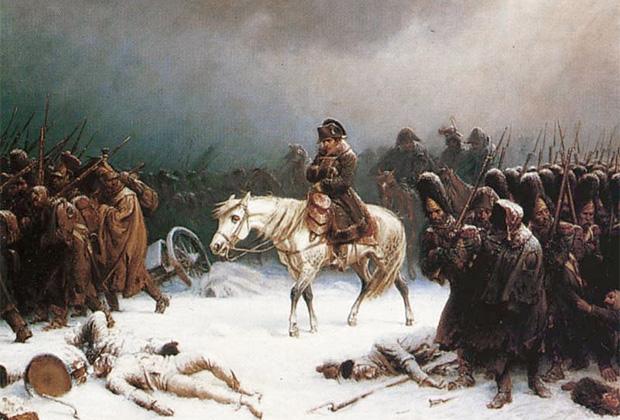 Адольф Нортен «Отступление Наполеона из Москвы»