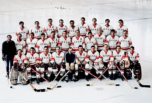 1972 год. Сборная команда СССР по хоккею